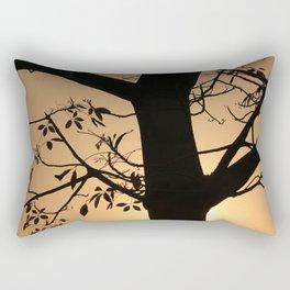 Sunset in a Tree Rectangular Pillow