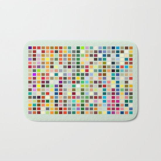 Geometric palette Bath Mat