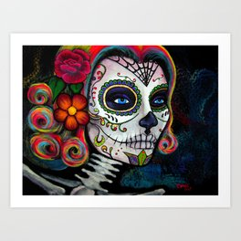 Sugar Skull Candy Art Print