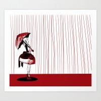 carmilla Art Prints featuring Carmilla by Kieran Thompson
