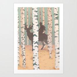 Fantasy print, Folk art print, original artwork , Giclee art print , A4 print Art Print