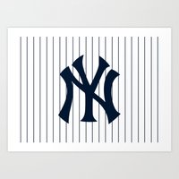 yankees Art Prints featuring Yankees MLB by Minimal Luck