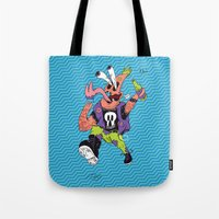 patrick Tote Bags featuring Patrick by Liam Woodruff