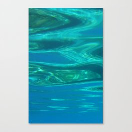 Below the surface - underwater picture - Water design Canvas Print
