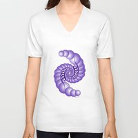 hook V-neck T-shirts featuring Julia's Hook by artsytoocreations