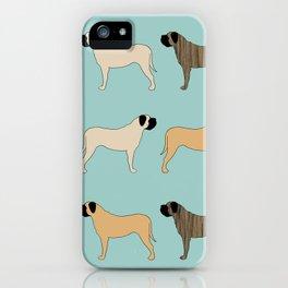 Mastiff Pattern iPhone Case