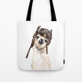 Pilot Llama Tote Bag