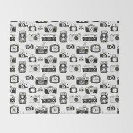 Vintage Cameras Throw Blanket