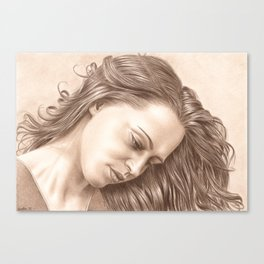 In her thoughts Canvas Print
