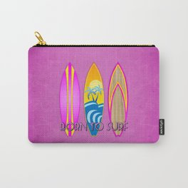 Born To Surf, In Pink Carry-All Pouch