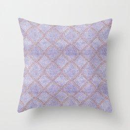 Double Denim Throw Pillow