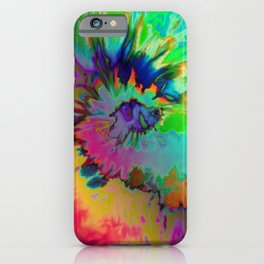 Inhale: A pretty minimal piece with bits of pinks, blues, greens, and yellows to your hearts content iPhone Case
