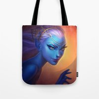 elf Tote Bags featuring Elf by Amanda Kihlström