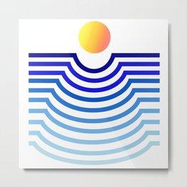 Geometric Sunset gradient Metal Print