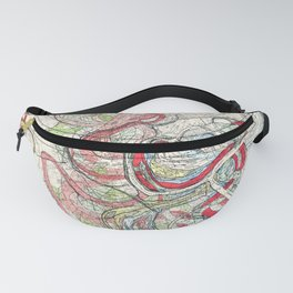 Vintage Map of the Mississippi River Fanny Pack