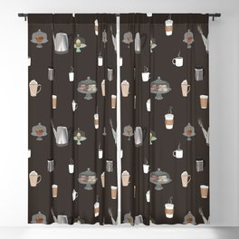 Coffee Shop Blackout Curtain