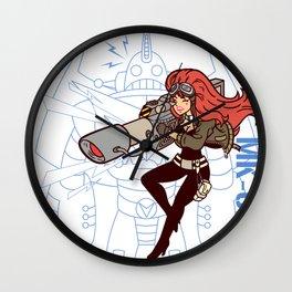 Köpke's Lasergirl - Enter the Robot! Wall Clock