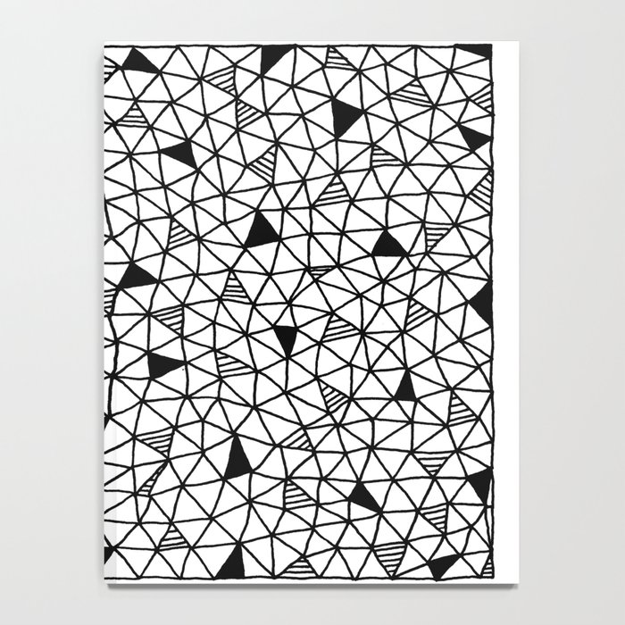 abstract triangle pattern Notebook