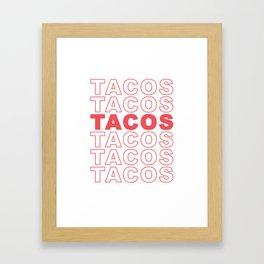 Taco Taco Framed Art Print