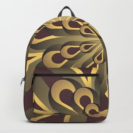 Om Mandala, Purple and Gold Fractal, Spiritual Gift, Yoga Lifestyle Backpack