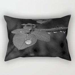 Tear Drop Black & White  Rectangular Pillow