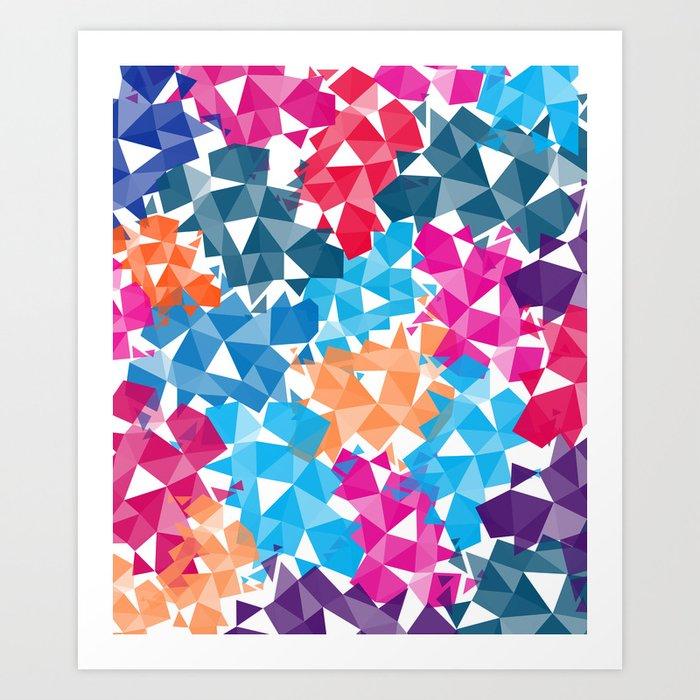 Colorful geometric Shapes Art Print