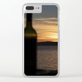 Sunset Vintage Red Clear iPhone Case