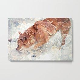 Leafy Shiba. Metal Print