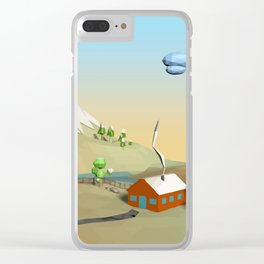 Landscape Low Poly B1 Clear iPhone Case