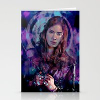 amy pond Stationery Cards featuring Amy Pond by Sirenphotos