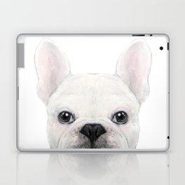 French bulldog white Dog illustration original painting print Laptop & iPad Skin