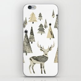 Winter Woods, collage iPhone Skin