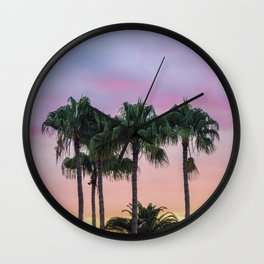 Island Paradise Palm Trees Wall Clock