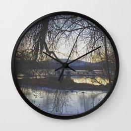 Hidden Lake Wall Clock