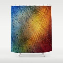 Magia venientem in guttis aquae pluviae Shower Curtain