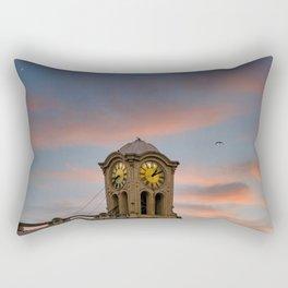 Clock Tower at Dusk Rectangular Pillow