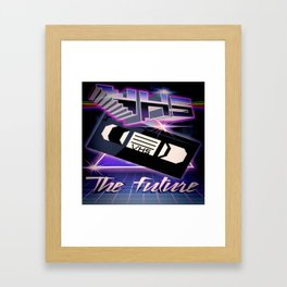 VHS FUTURE Framed Art Print