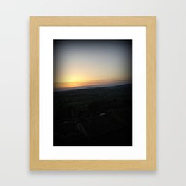 Vignale Sunset Framed Art Print