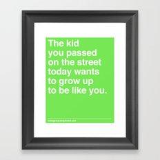 That Kid Framed Art Print