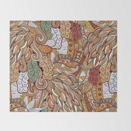 Stylized Boho Bulb Pattern Throw Blanket