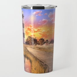 lighthouse landscape sky Travel Mug