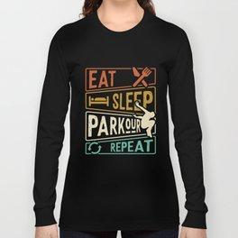 Eat Sleep Parkour Repeat - Parkour Runner Long Sleeve T-shirt