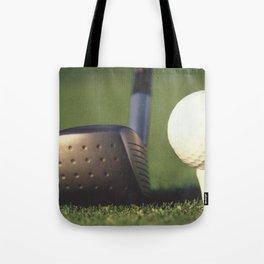 Golf Club and Ball on Tee Tote Bag