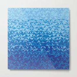 Follow the Blue Sea Metal Print