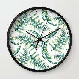 Woodland Ferns Wall Clock