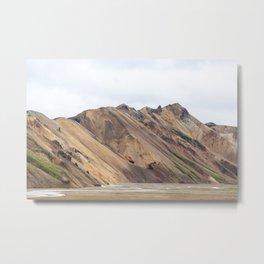 Landmannalaugar rainbow mountain in Iceland - lanscape photography Metal Print