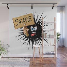 Selfie Fun Cartoon Face Wall Mural
