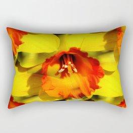 Daffodil - Orange Trumpet Rectangular Pillow