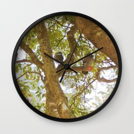 Incense tree with pigeons Wall Clock