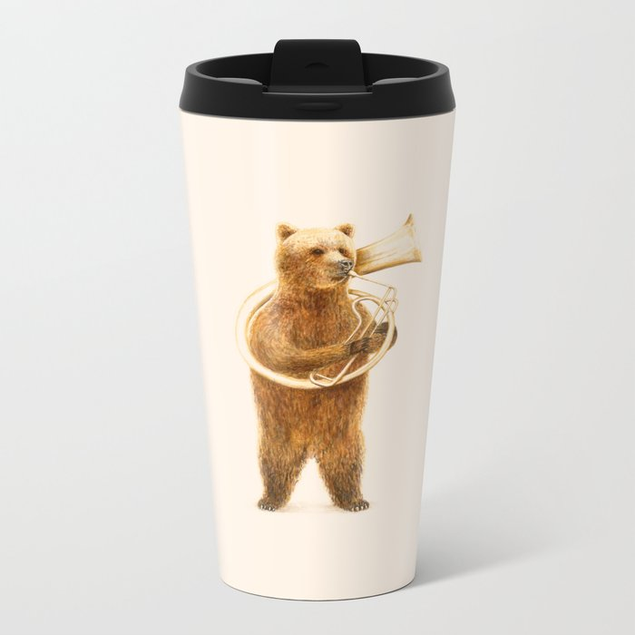 The Bear and his Helicon Metal Travel Mug